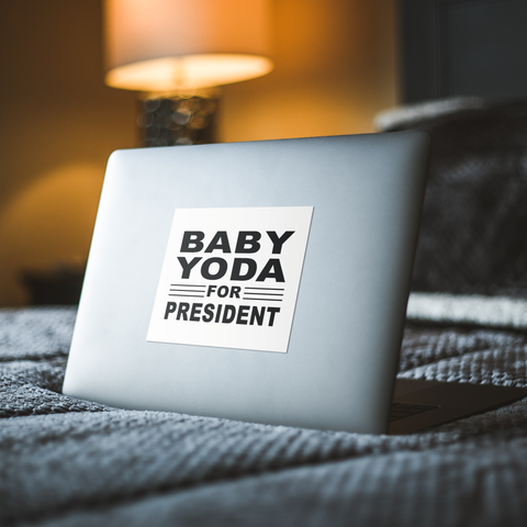 Baby Yoda for President Sticker Decal - Vinyl decal