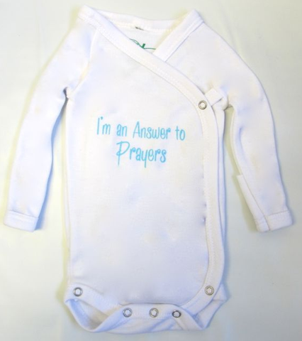 Preemie Answered Prayer in Blue