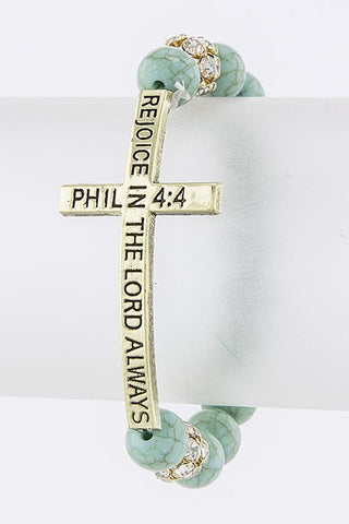 Rejoice in the Lord Bracelet - Phil 4:4
