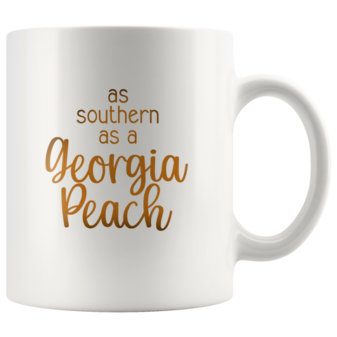 Georgia Peach coffee mug Georgia Peachy Coffee Mug