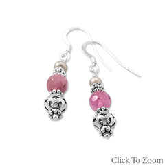 Baila Luna Ruby Bead Drop Earrings