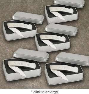 Stainless Steel Lock Back Knife Set of 5