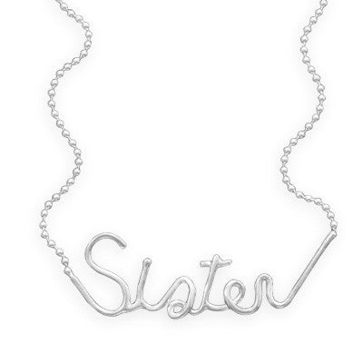 "Sister 18"" Necklace"