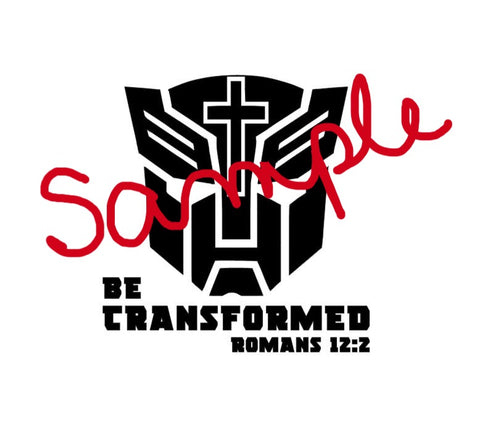 Be Transformed Decal Romans 12:2