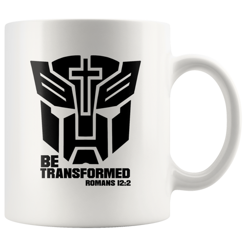 Be Transformed Romans 12:2 Christian Gifts Coffee Mug