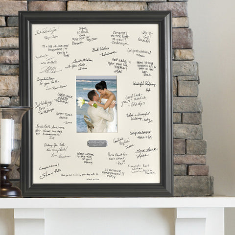 Wedding Mat and Frame for Signatures
