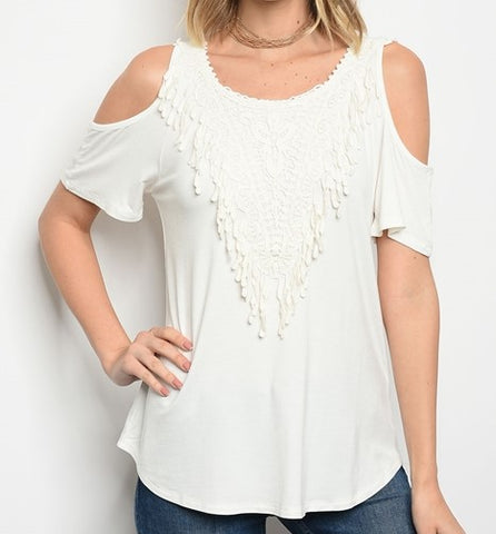 Southern Girls - White Tie Back Shirt