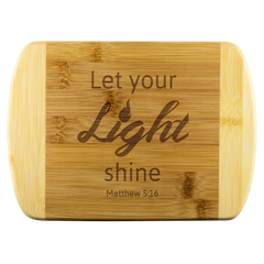 Verse Wood Cutting Board Matthew 5:16 Let your light shine