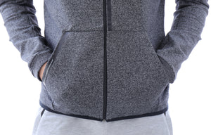 SCR men's athletic-casual Hoodie Heather Gray