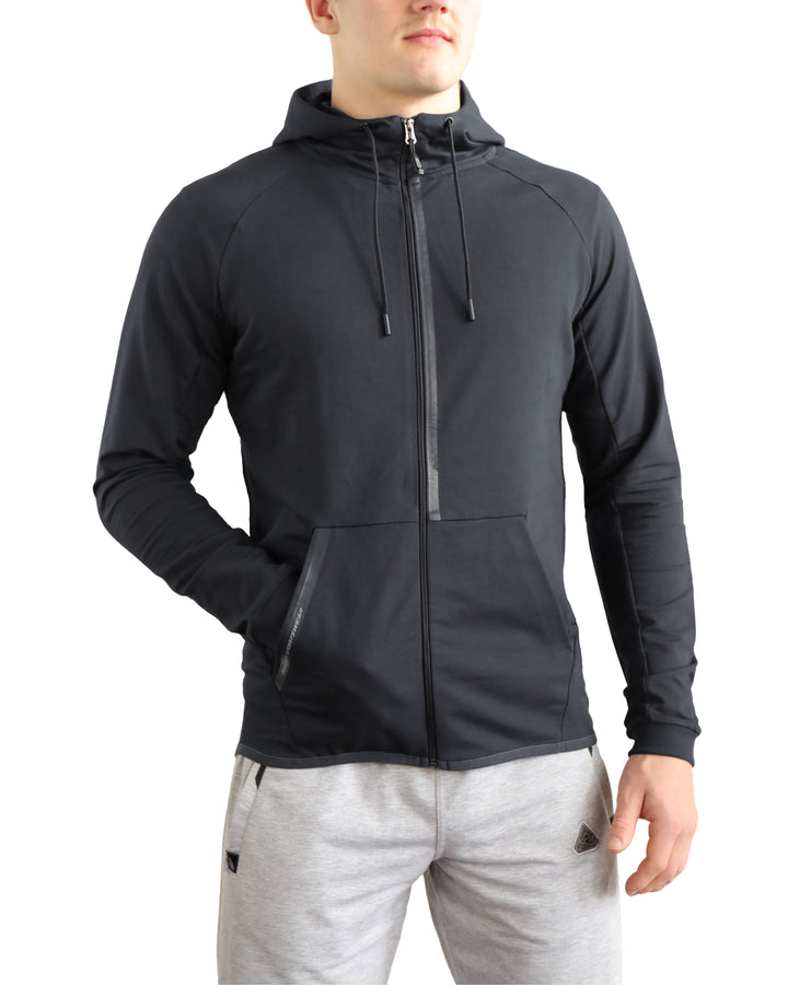 SCR men's athletic-casual Hoodie Black