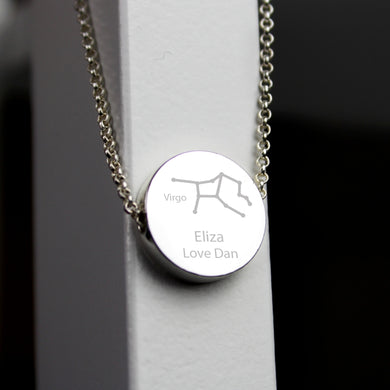Virgo Zodiac Star Sign Horoscope Necklace