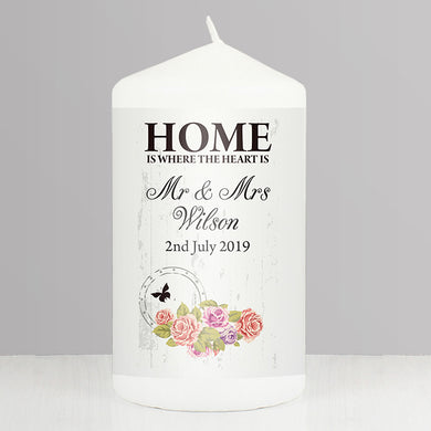 Personalised Shabby Chic candle