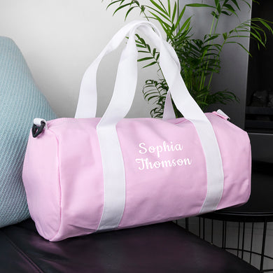 Personalised Kids Pink Gym Kit Bag