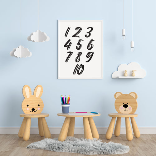 Numbers A4 Print - Children's Prints