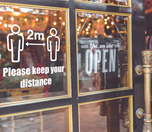 Keep Your Distance - Vinyl Window or Wall Sticker / Decal