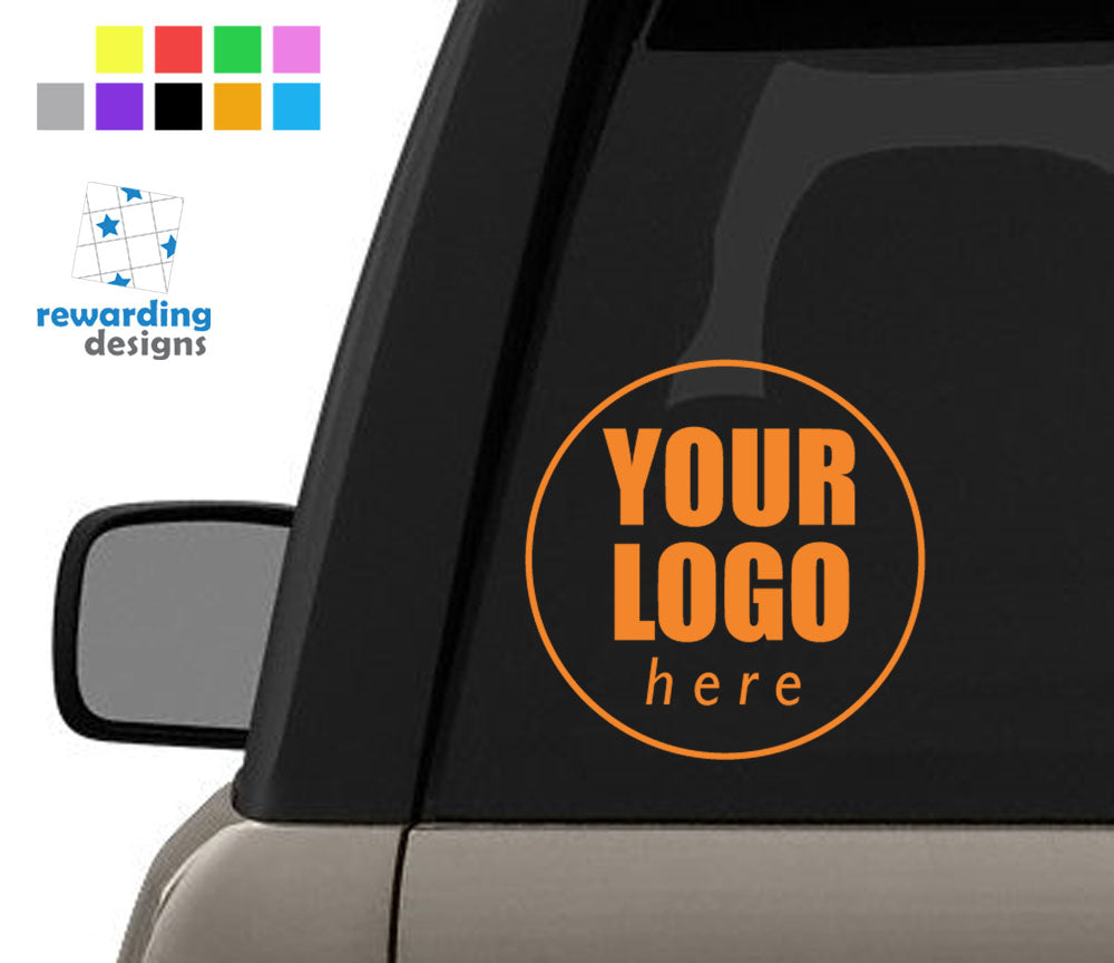 Custom Logo Personalised Car Sticker - Single Colour Vinyl Decal