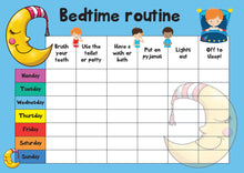 Load image into Gallery viewer, Bedtime Routine A4 Reward Chart