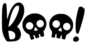 Halloween Boo Skulls Window Sticker