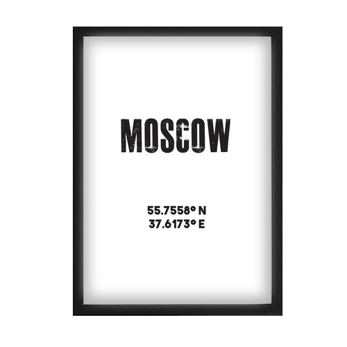 Moscow Co-ordinates Print