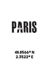 Load image into Gallery viewer, Paris Co-ordinates Print