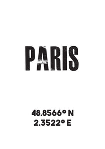 Paris Co-ordinates Print