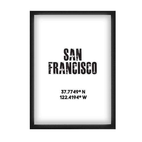 San Francisco Co-ordinates Print