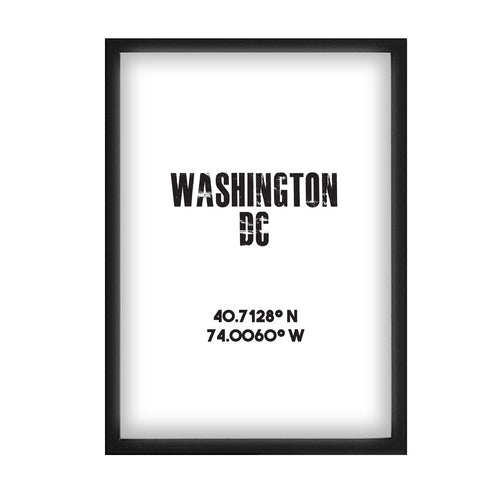 Washington DC Co-ordinates Print
