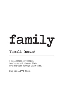 Family Word Alternative Definition Print