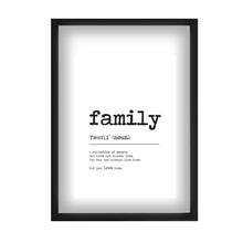 Load image into Gallery viewer, Family Word Alternative Definition Print