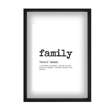 Family Word Definition Print