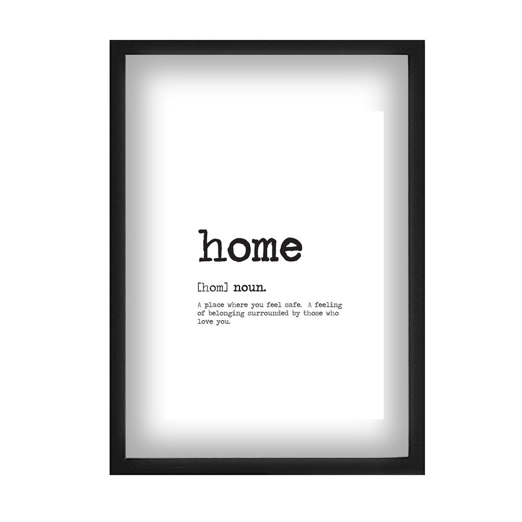 Home Word Definition Print