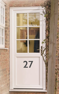 House Door Number - Vinyl Sticker - Choose Colour and Size