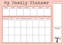 Load image into Gallery viewer, Family Planner / To Do List / Organiser / Kids, Food and Meal Planner