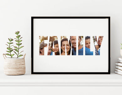 Family - Custom Personalised A4 Photo Print
