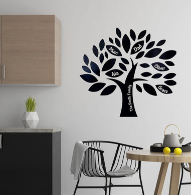 Personalised Family Tree Vinyl Sticker - Kitchen Wall Art