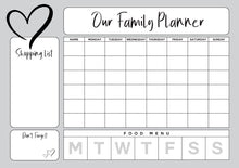 Load image into Gallery viewer, Personalised Hanging Family Activity / Meal Planner