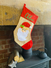 Load image into Gallery viewer, 3D Santa Stocking With Personalisation - Christmas Gift
