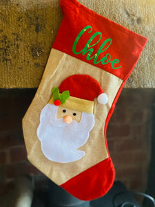 3D Santa Stocking With Personalisation - Christmas Gift