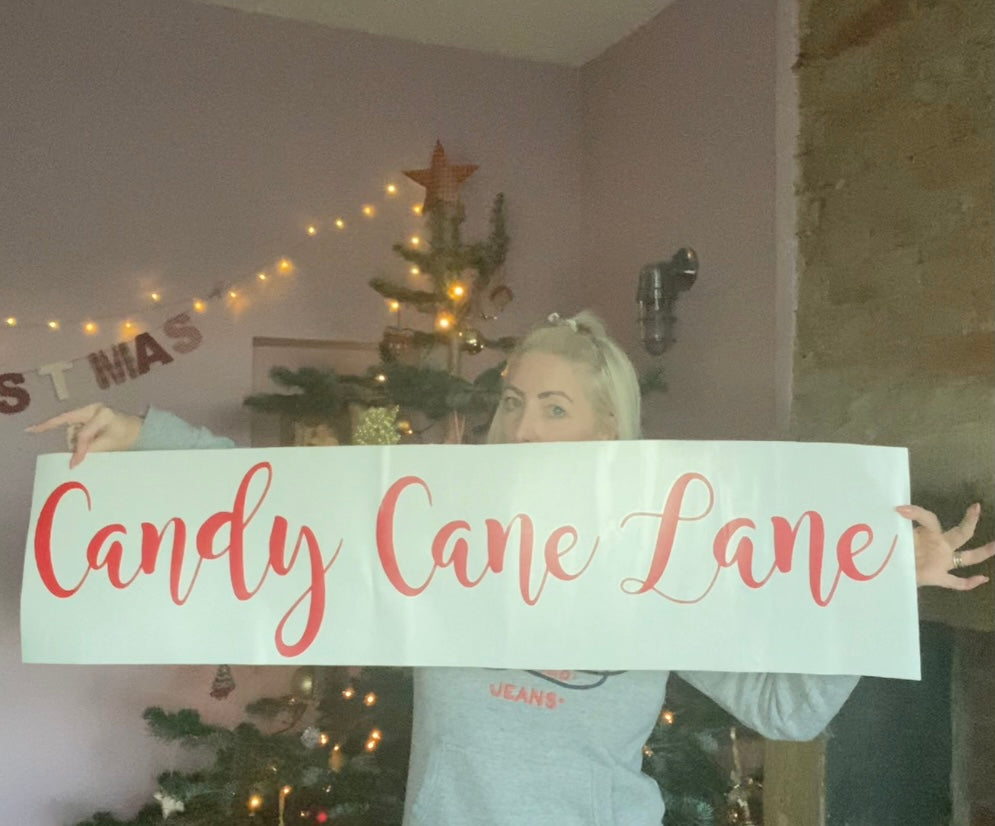 Candy Cane Lane - Special Offer - Vinyl Sticker