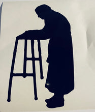Load image into Gallery viewer, Elderly Silhouette With Hearts
