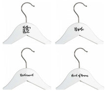 Load image into Gallery viewer, Personalised Wedding Coat Hanger Vinyl Stickers - Weddings