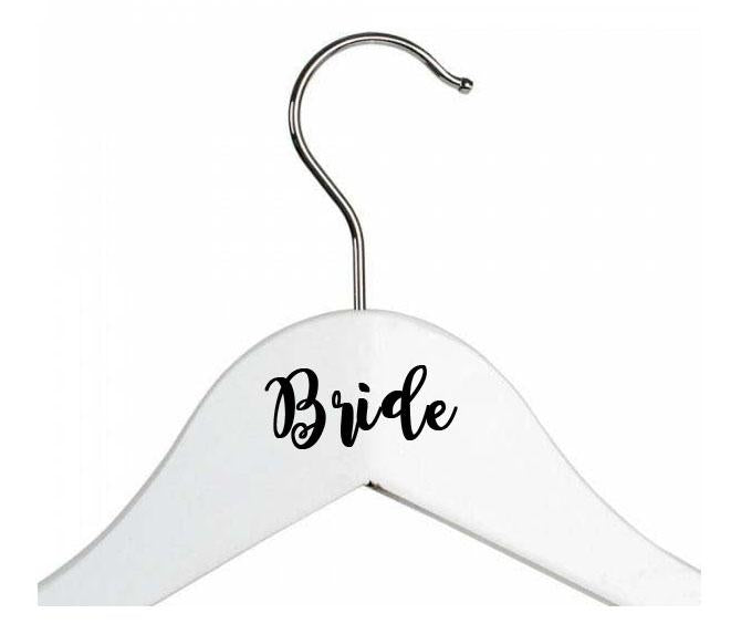 Personalised Wedding Coat Hanger Vinyl Stickers - Weddings