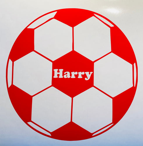 Personalised Football - Vinyl Sticker