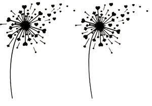 Pair Of Dandelions - Wall / Window Vinyl Sticker