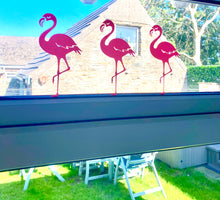 Load image into Gallery viewer, Flamingo Vinyl Sticker - Set Of Three