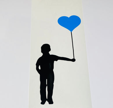 Boy Holding Balloon - Create Window, Wall or Glass Display - 7 Colours to Choose from