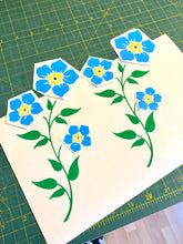 Load image into Gallery viewer, Forget Me Not Flowers - Vinyl Sticker