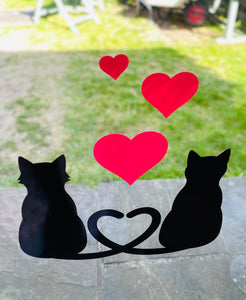 Two Cats With 3 Hearts
