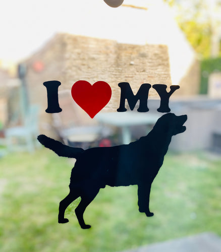 Dog Silhouette with 'I ❤️ MY' - Choose your Breed