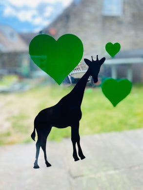Safari Animal Silhouette with Hearts - Choose your Animal and Heart Colour